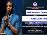 RCCG Convention closes with 109 babies, 1,885 new pastors